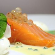 seafood garnish, molecular gastronomy, restaurant supplies, flavour pearls, gourmet garnish, lemon and black pepper