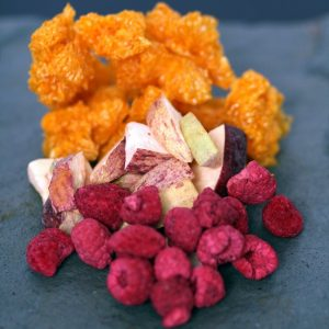 freeze dried fruit, freeze dried vegetables, Australian fruit, textures, restaurant supplies