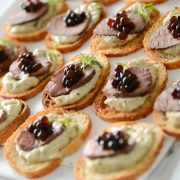Peninsula Larders Balsamic Flavour Pearls make garnishing canapes and finger food a breeze
