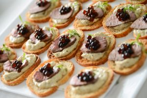 Peninsula Larders Flavour Pearls make garnishing canapes and finger food a breeze