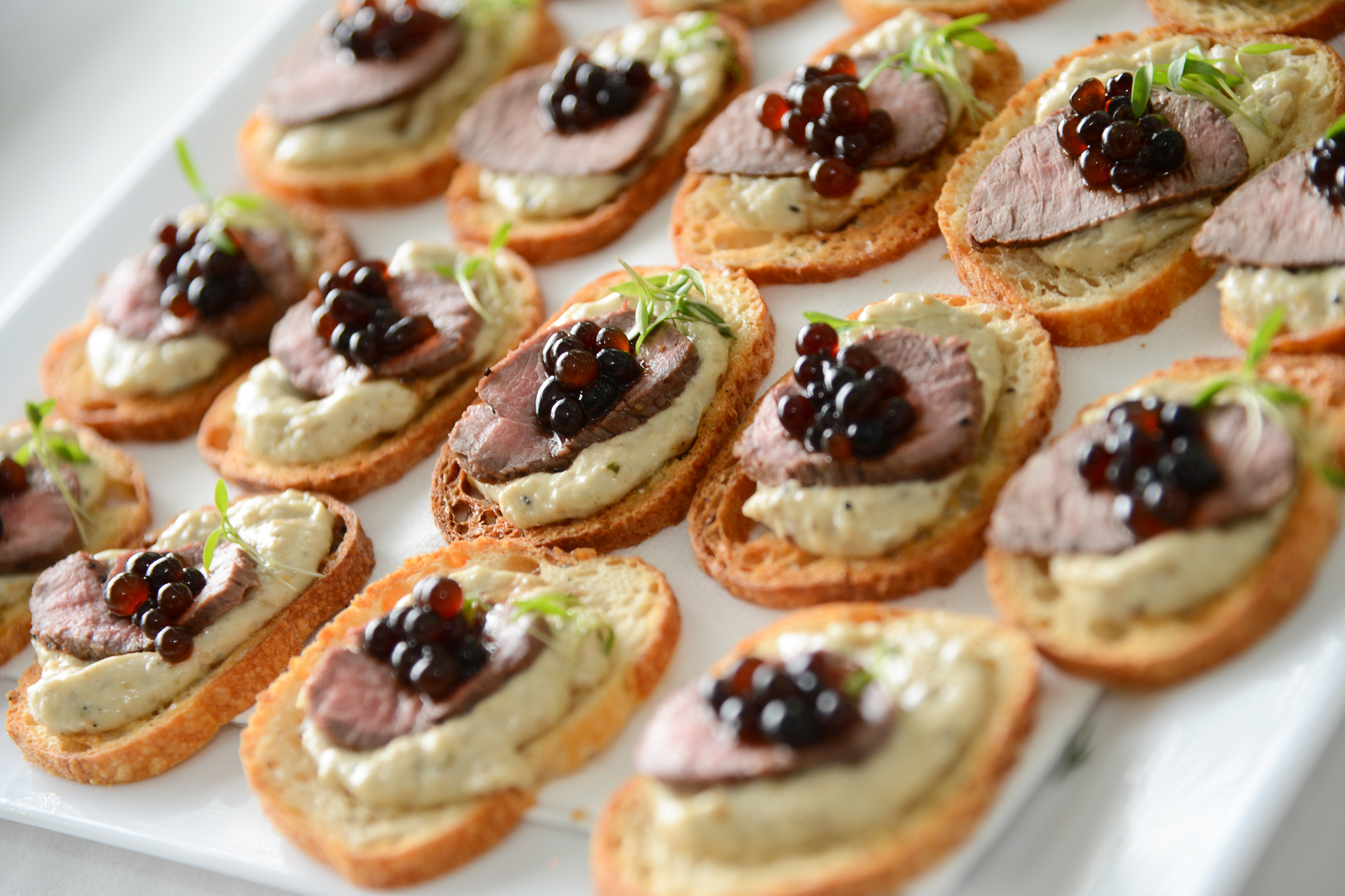 Canap lamb and baba ganoush peninsula larder for Canape de caviar