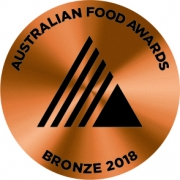 Bronze Medal 2018 Australian Food Awards