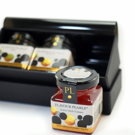 Gift box with 3 small jars Flavour Pearls