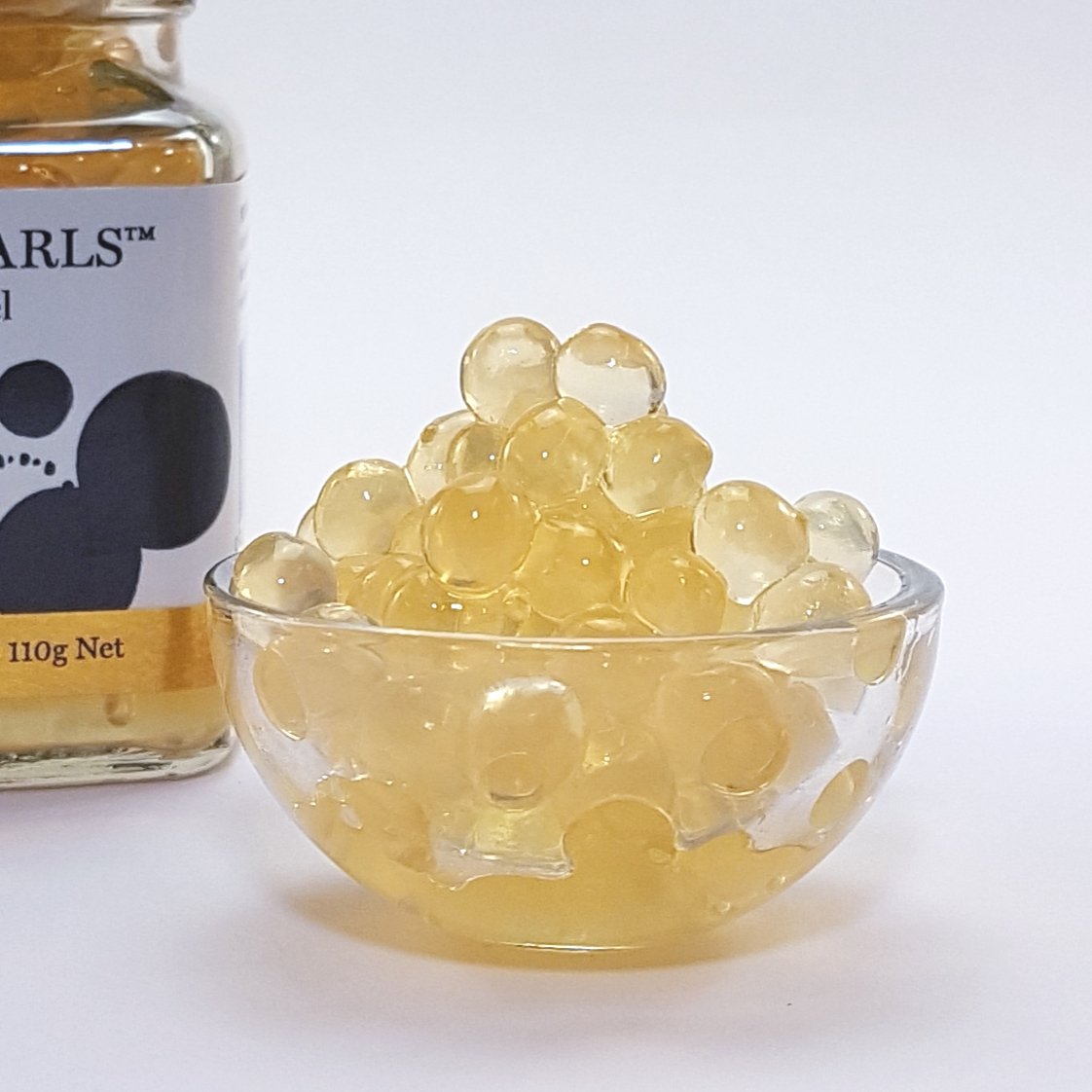 Salted Caramel Flavour Pearls Product in dish