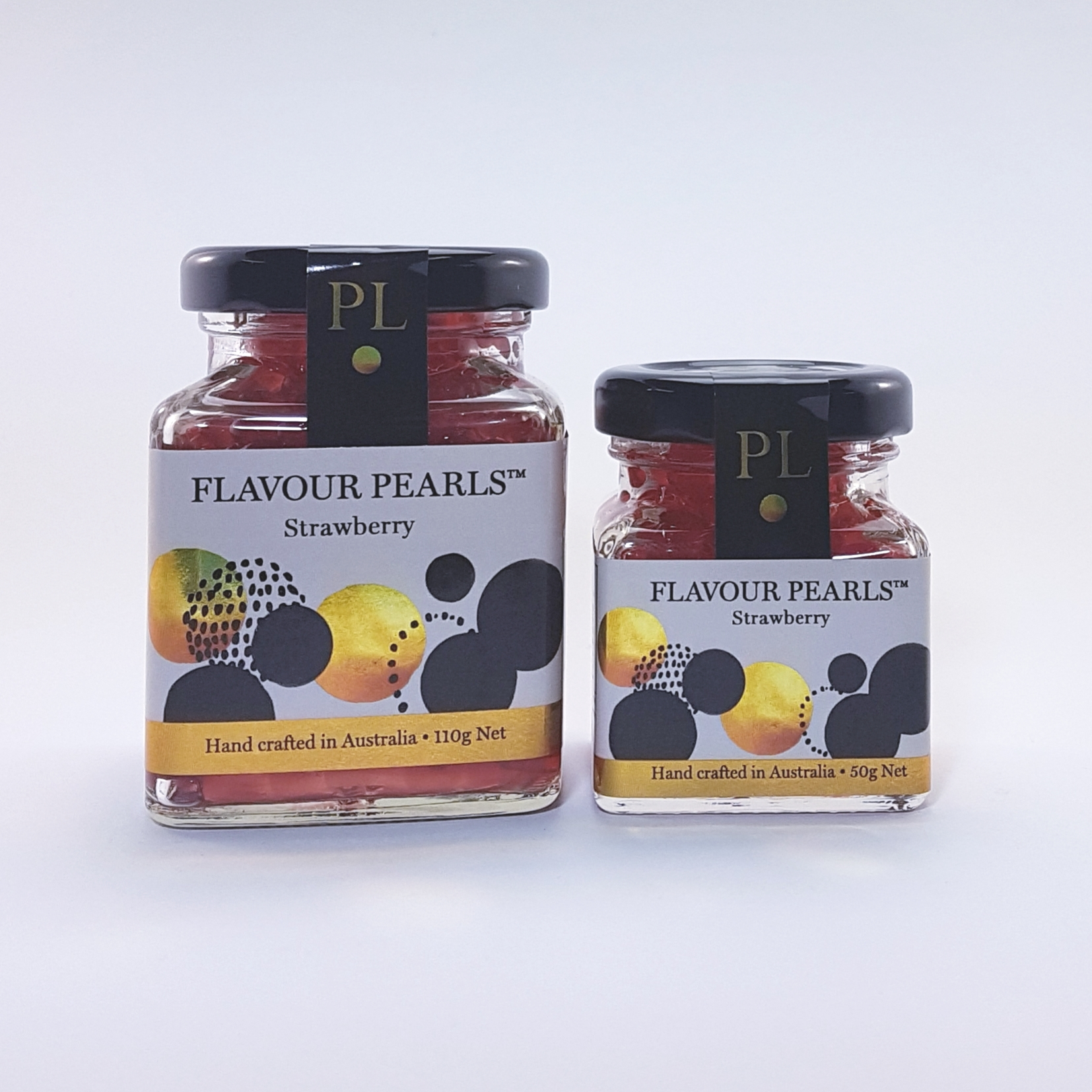 Strawberry Flavour Pearls 110g and 50g Jars