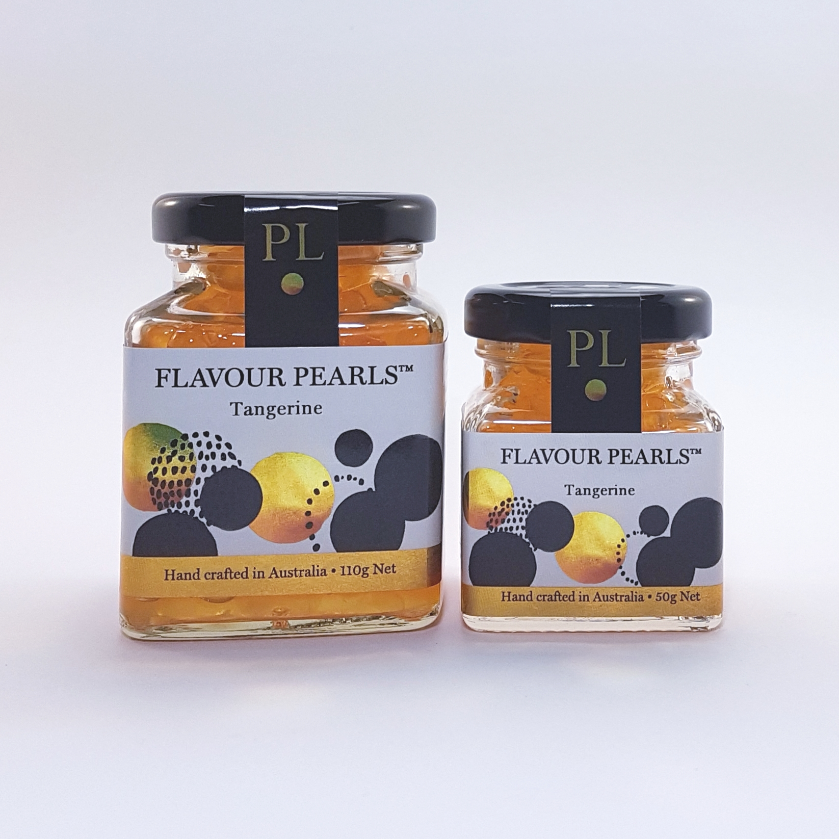 Tangerine Flavour Pearls 110g and 50g Jars