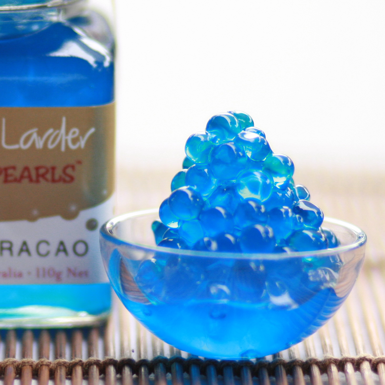 Peninsula Larders Blue Curacao style Flavour Pearls are fun and delicious for your favourite drinks