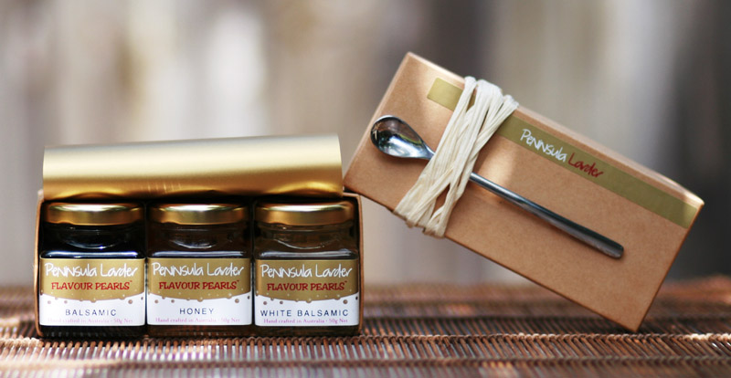 Peninsula Larders gift box of Flavour Pearls is the ultimate luxury gourmet gift