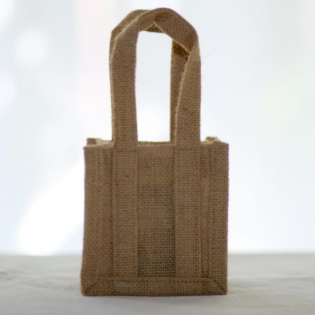 Peninsula Larders cute jute gift bag makes wrapping obsolete!