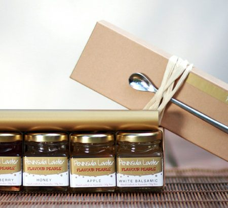 Peninsula Larders signature gift box of Flavour pearls is the ideal gift for the gourmet in your life