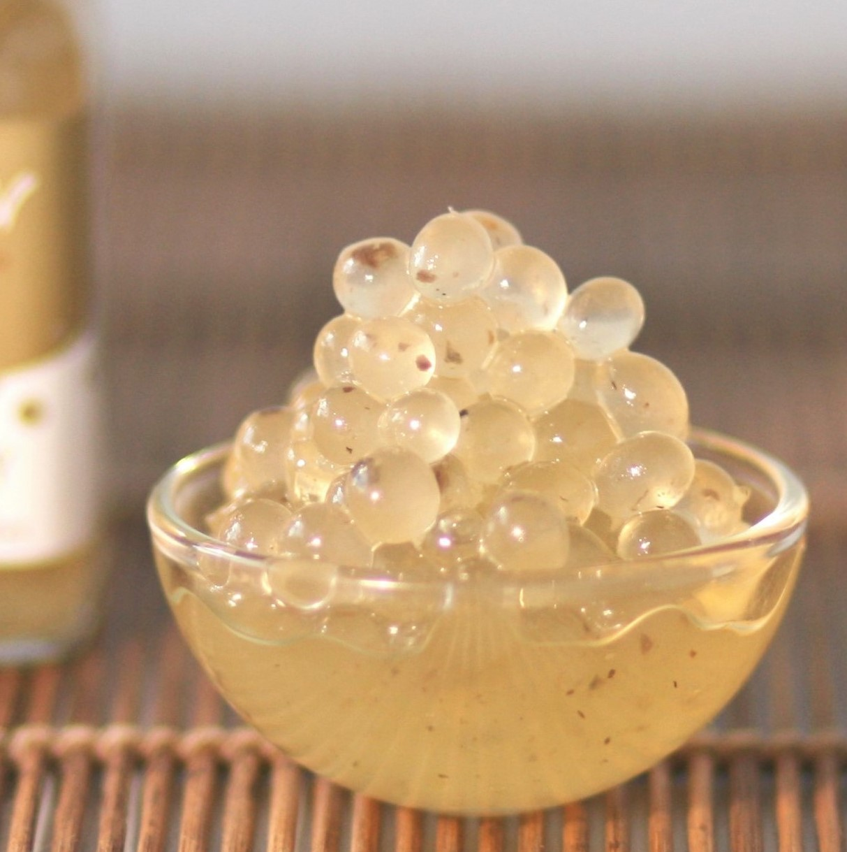 Truffled Honey Flavour Pearls are a delicious way to add some luxury to your cheese board.