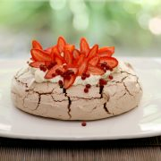 Here is a recipe for Chocolate pavlova and Spiced Cranberry Flavour Pearls