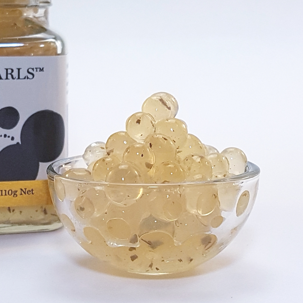 Lemon Myrtle Flavour Pearls Product in dish
