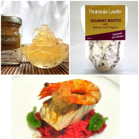 Peninsula Larders Lemon Myrtle flavour Pearls and Gourmet Beetroot Risotto make entertaining a breeze