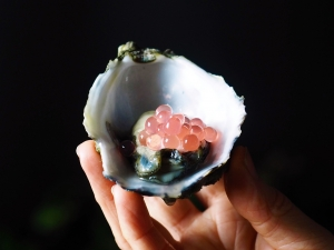 Oyster with Shallot & White Balsamic Flavour Pearls