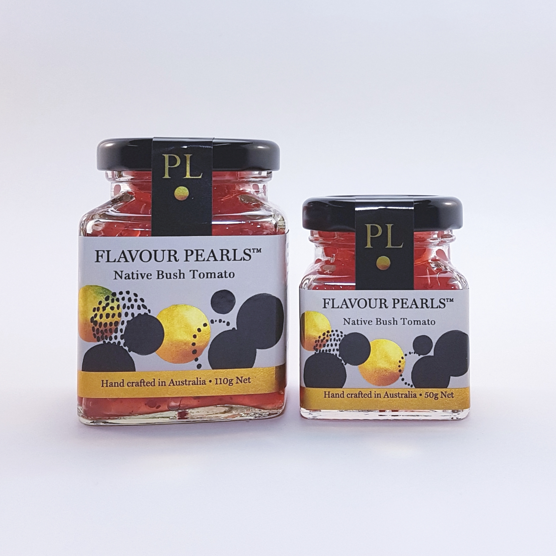 Native Bush Tomato Flavour Pearls 110g and 50g Jars