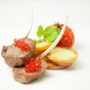 Native Bush Tomato Flavour Pearls and Lamb Cutlets