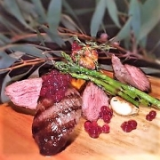 Pepperberry-Cherry-Flavour-Pearls-with-grilled-kangaroo