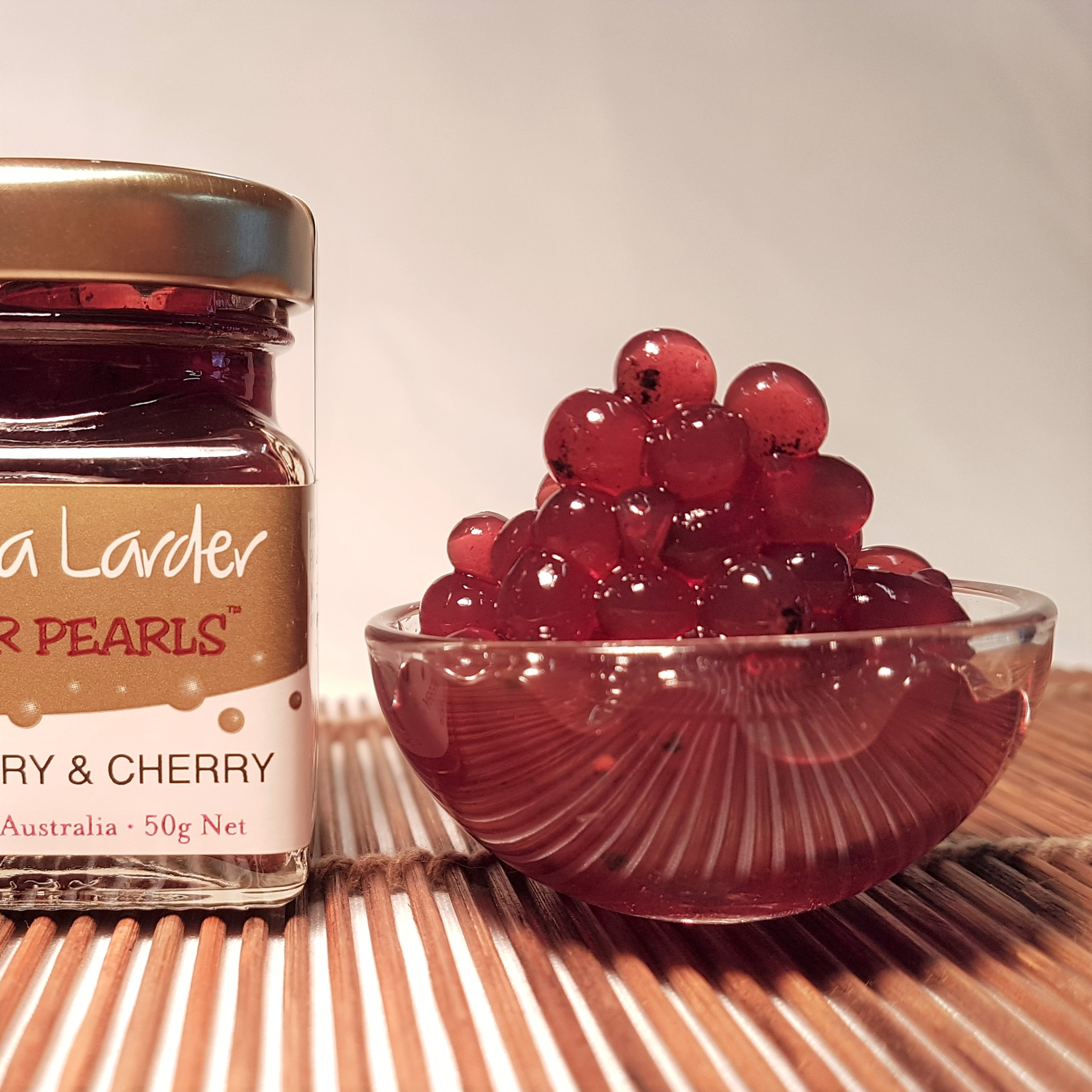 Peninsula Larders Pepperberry & Cherry Flavour Pearls add a distinctly Australian burst of flavour to your gourmet creations