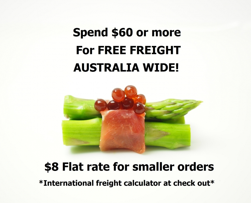 Free freight in Australia for Peninsula Larders Flavour Pearls orders of $60 or more