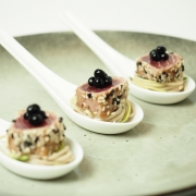 Peninsula Larders Sesame Crusted Tuna and Soy Flavour Pearls are an Australian made luxury gourmet garnish