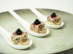 Peninsula Larders Soy Flavour Pearls are an Australian made luxury gourmet garnish