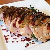 Stuffed Turkey Breast with Spiced Cranberry Flavour Pearls