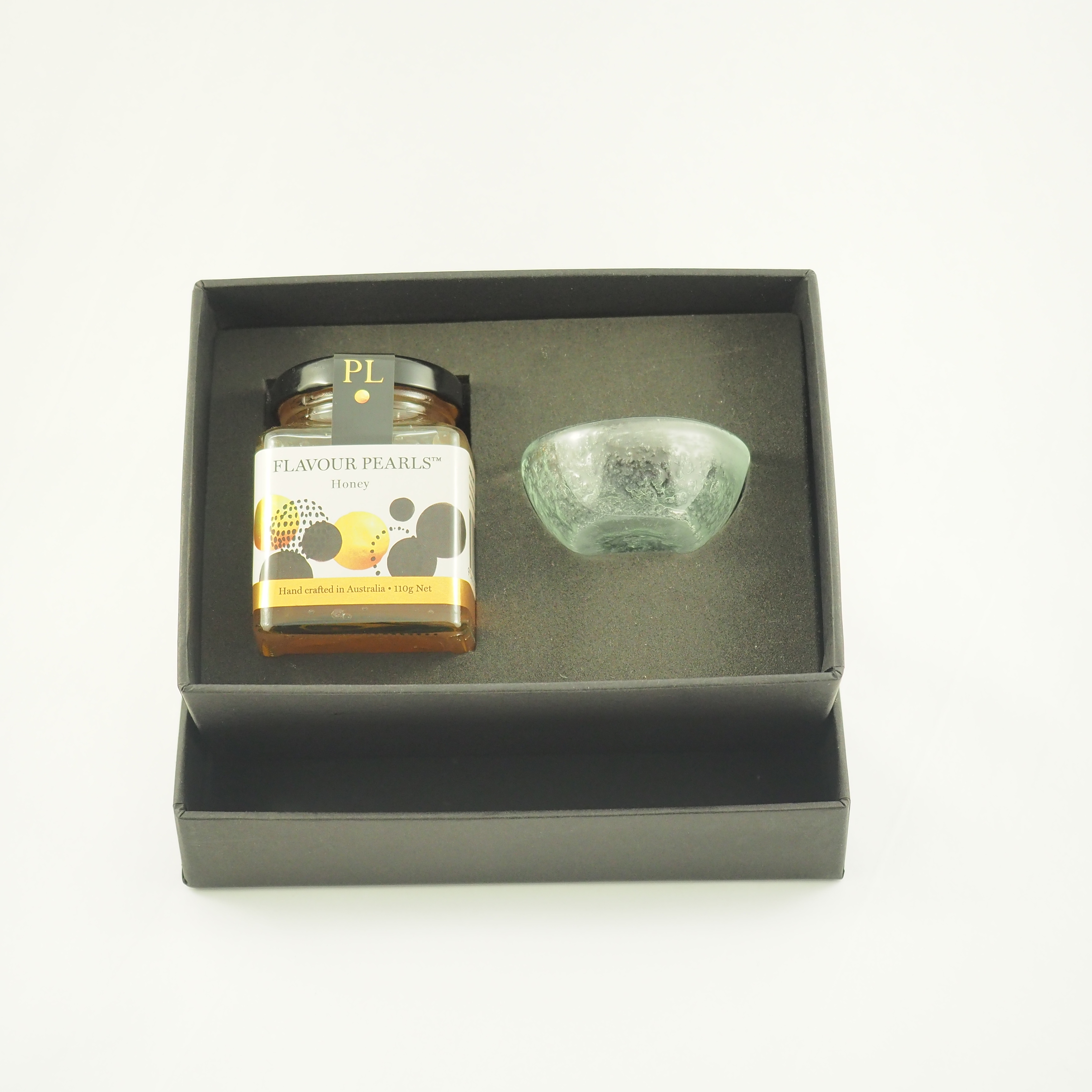 Gift box with large jar dish and spoon