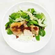 Spring Chicken salad with Balsamic flavour Pearls