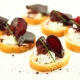 Crostini with Glazed Beetroot, Horseraddish Cream and Balsamic Flavour Pearls