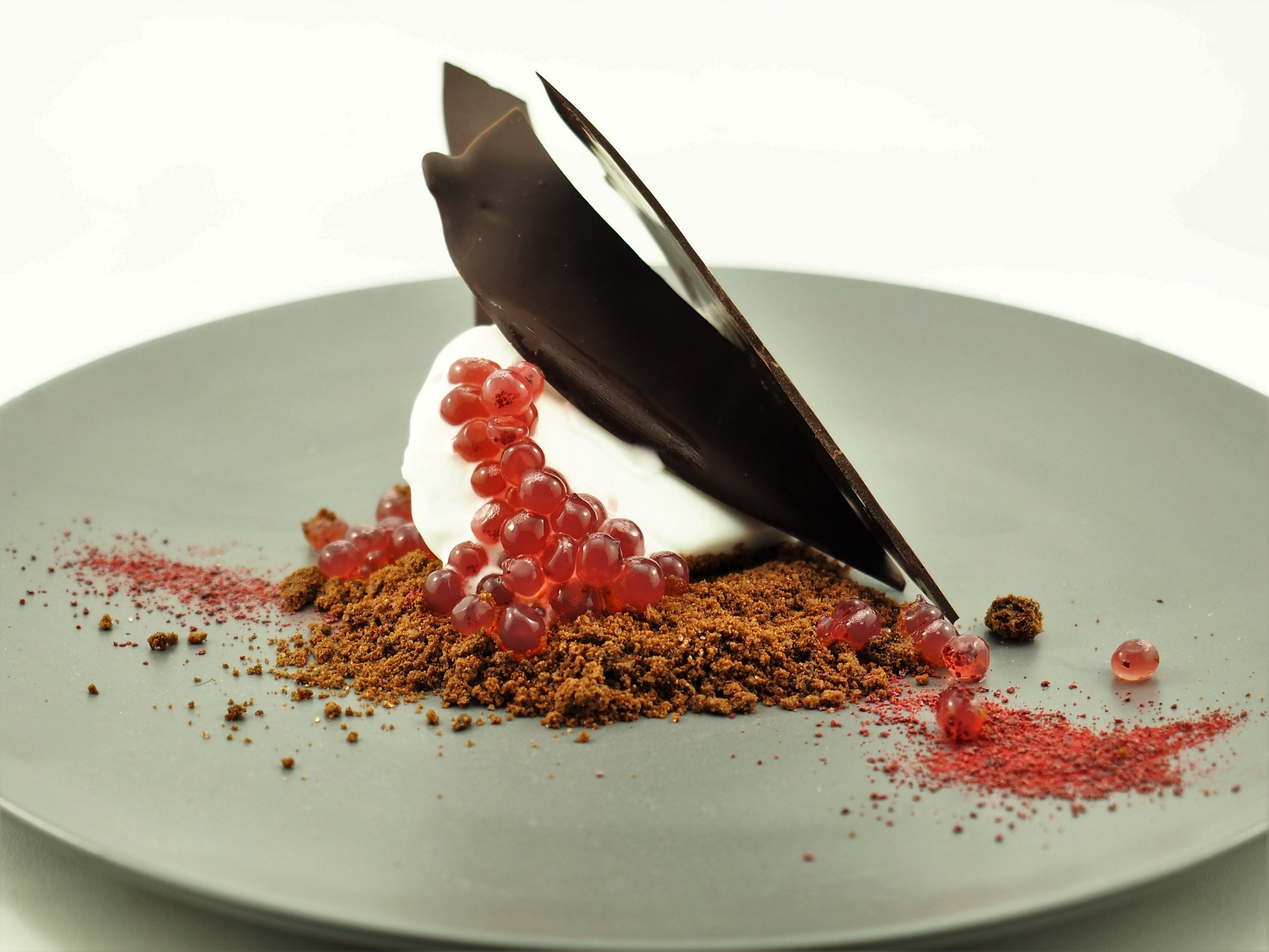 Coconut, chocolate and Davidson Plum Flavour Pearls