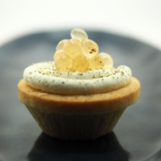 Mousse Cups with Lemon Myrtle Flavour Pearls