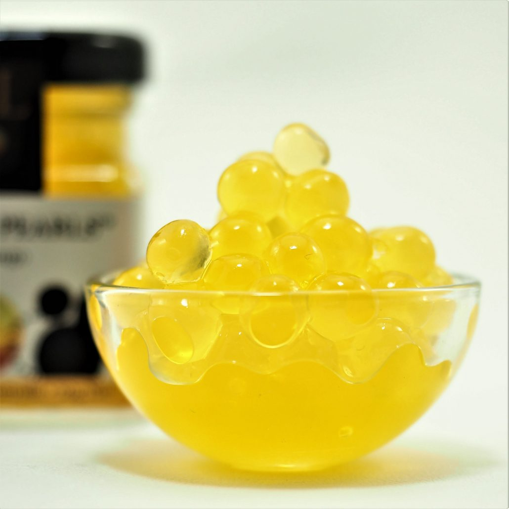 Mango Flavour Pearls in Dish