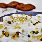 Lemon & Thyme Labne with Pistachios and Honey Flavour Pearls