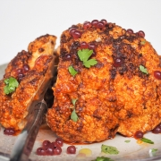 Paprika Rubbed Roast Cauliflower with Pepperberry & Cherry Flavour Pearls