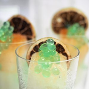 Gin & Dirty Tonic Ice with Native Finger Lime Flavour Pearls