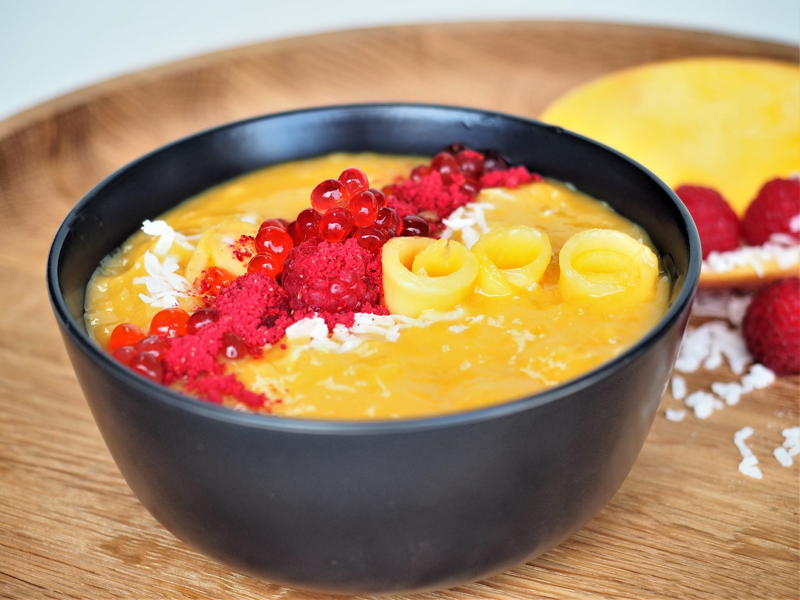 Mango and Raspberry Smoothie Bowl